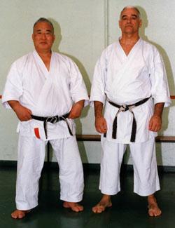 Sensei Kase et Jean-Pierre Lavorato